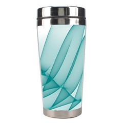 Background Light Glow Blue Stainless Steel Travel Tumblers by Nexatart