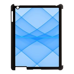 Background Light Glow Blue Apple Ipad 3/4 Case (black) by Nexatart