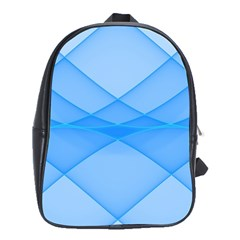 Background Light Glow Blue School Bag (xl)