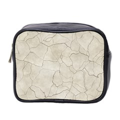 Background Wall Marble Cracks Mini Toiletries Bag 2 Side by Nexatart