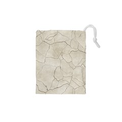 Background Wall Marble Cracks Drawstring Pouches (xs)  by Nexatart