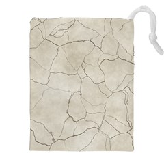 Background Wall Marble Cracks Drawstring Pouches (xxl) by Nexatart
