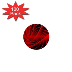 Red Abstract Art Background Digital 1  Mini Magnets (100 Pack)