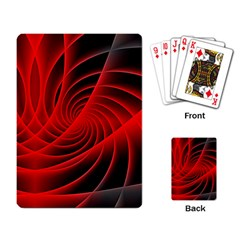 Red Abstract Art Background Digital Playing Card by Nexatart
