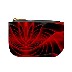 Red Abstract Art Background Digital Mini Coin Purses by Nexatart