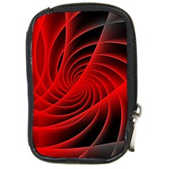 Red Abstract Art Background Digital Compact Camera Cases