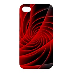 Red Abstract Art Background Digital Apple Iphone 4/4s Premium Hardshell Case