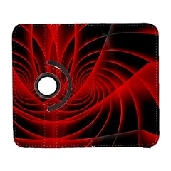 Red Abstract Art Background Digital Galaxy S3 (flip/folio) by Nexatart