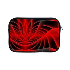Red Abstract Art Background Digital Apple Ipad Mini Zipper Cases