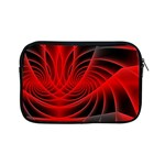 Red Abstract Art Background Digital Apple iPad Mini Zipper Cases Front