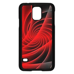 Red Abstract Art Background Digital Samsung Galaxy S5 Case (black) by Nexatart