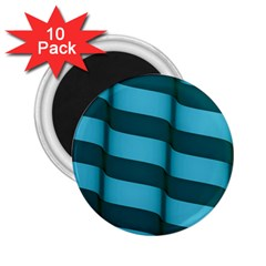 Curtain Stripped Blue Creative 2 25  Magnets (10 Pack)