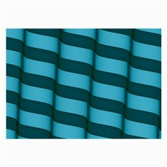 Curtain Stripped Blue Creative Large Glasses Cloth