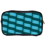 Curtain Stripped Blue Creative Toiletries Bags 2-Side Front