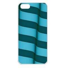 Curtain Stripped Blue Creative Apple Iphone 5 Seamless Case (white)