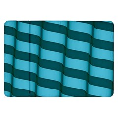 Curtain Stripped Blue Creative Samsung Galaxy Tab 8 9  P7300 Flip Case