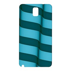 Curtain Stripped Blue Creative Samsung Galaxy Note 3 N9005 Hardshell Back Case