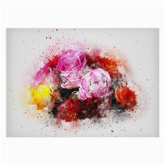 Flowers Roses Wedding Bouquet Art Large Glasses Cloth