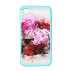 Flowers Roses Wedding Bouquet Art Apple Iphone 4 Case (color) by Nexatart