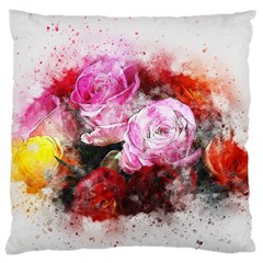 Flowers Roses Wedding Bouquet Art Large Cushion Case (one Side)
