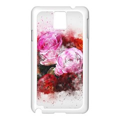 Flowers Roses Wedding Bouquet Art Samsung Galaxy Note 3 N9005 Case (white) by Nexatart