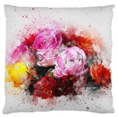 Flowers Roses Wedding Bouquet Art Large Flano Cushion Case (two Sides) by Nexatart