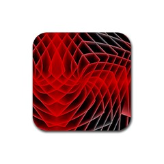 Abstract Red Art Background Digital Rubber Coaster (square)