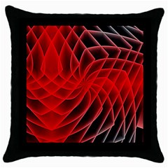 Abstract Red Art Background Digital Throw Pillow Case (black)