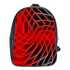 Abstract Red Art Background Digital School Bag (large)