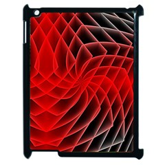 Abstract Red Art Background Digital Apple Ipad 2 Case (black) by Nexatart