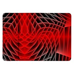 Abstract Red Art Background Digital Samsung Galaxy Tab 8 9  P7300 Flip Case