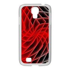 Abstract Red Art Background Digital Samsung Galaxy S4 I9500/ I9505 Case (white)