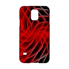 Abstract Red Art Background Digital Samsung Galaxy S5 Hardshell Case