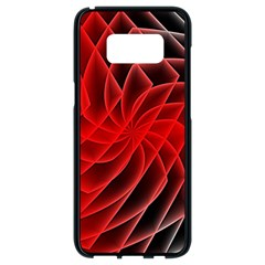Abstract Red Art Background Digital Samsung Galaxy S8 Black Seamless Case