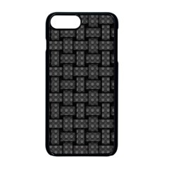 Background Weaving Black Metal Apple Iphone 8 Plus Seamless Case (black)