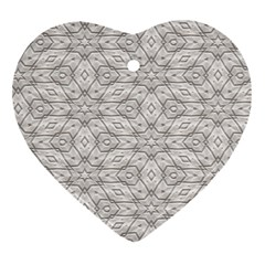 Background Wall Stone Carved White Heart Ornament (two Sides)