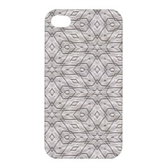 Background Wall Stone Carved White Apple Iphone 4/4s Premium Hardshell Case