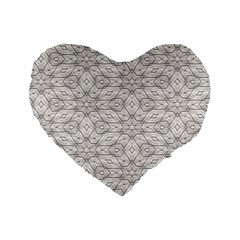 Background Wall Stone Carved White Standard 16  Premium Heart Shape Cushions