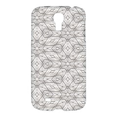 Background Wall Stone Carved White Samsung Galaxy S4 I9500/i9505 Hardshell Case by Nexatart