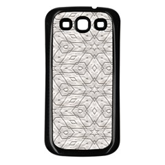 Background Wall Stone Carved White Samsung Galaxy S3 Back Case (black)