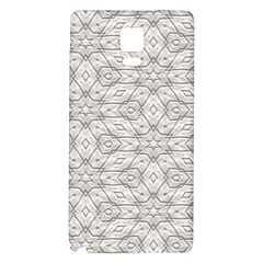 Background Wall Stone Carved White Galaxy Note 4 Back Case by Nexatart