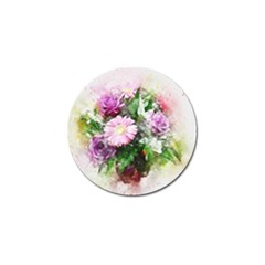 Flowers Roses Bouquet Art Nature Golf Ball Marker (10 Pack) by Nexatart