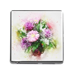 Flowers Roses Bouquet Art Nature Memory Card Reader (square)