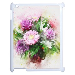 Flowers Roses Bouquet Art Nature Apple Ipad 2 Case (white) by Nexatart
