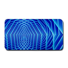 Blue Background Light Glow Abstract Art Medium Bar Mats