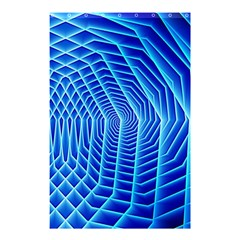 Blue Background Light Glow Abstract Art Shower Curtain 48  X 72  (small)  by Nexatart