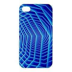 Blue Background Light Glow Abstract Art Apple Iphone 4/4s Premium Hardshell Case