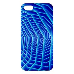 Blue Background Light Glow Abstract Art Apple Iphone 5 Premium Hardshell Case