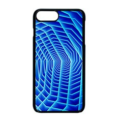 Blue Background Light Glow Abstract Art Apple Iphone 8 Plus Seamless Case (black)