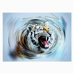 Tiger Animal Art Swirl Decorative Large Glasses Cloth